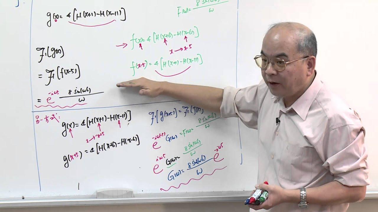 傅立葉(Fourier)分析與偏微分方程式 單元(十一) 傅立葉轉換 基本特性: (1) 線性 (2) 時間軸移位 (3) 頻率軸移位 ...