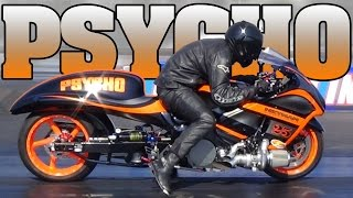 PSYCHO turbo Hayabusa Pro Street motorcycle drag racing