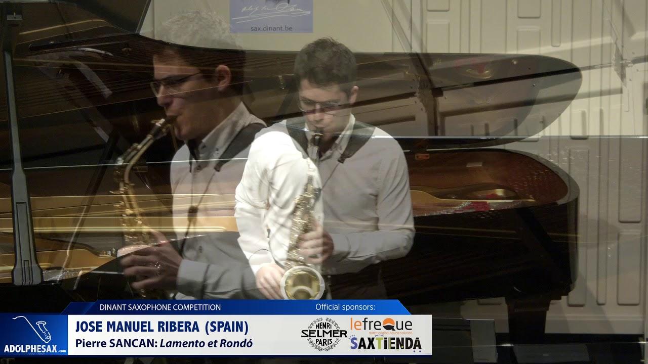 Jose Manuel Ribera (Spain) - Lamento et Rondó by Pierre Sancan (Dinant 2019)