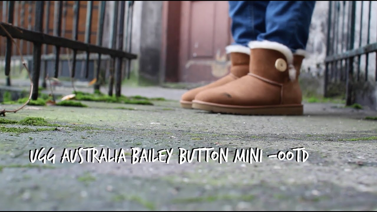 Ugg australia, lookbook, how to style ugg australia-Bailey Button mini - Outfit of the day - YouTube