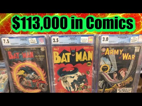 Taking $131,000 worth of CGC COMICS to a LOCAL COMIC BOOK SHOW StorageWars Convention Marvel & DC