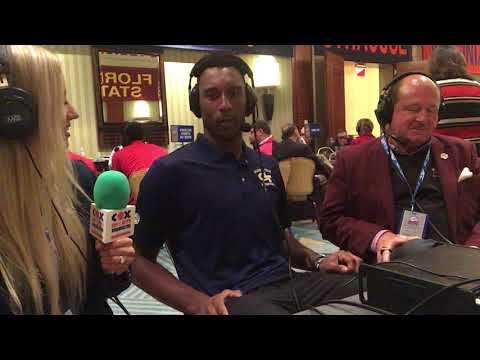 Ga Tech's Josh Okogie Talks with Cox Sports Broadcasting at 2017 ACC Operation Basketball
