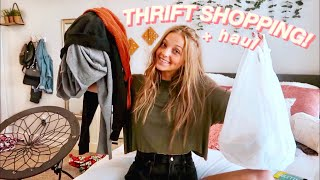 BACK TO SCHOOL THRIFT SHOPPING + TRY-ON HAUL!!