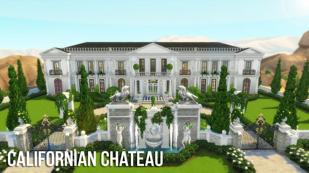 The Sims 4 Speed Build - Californian Château