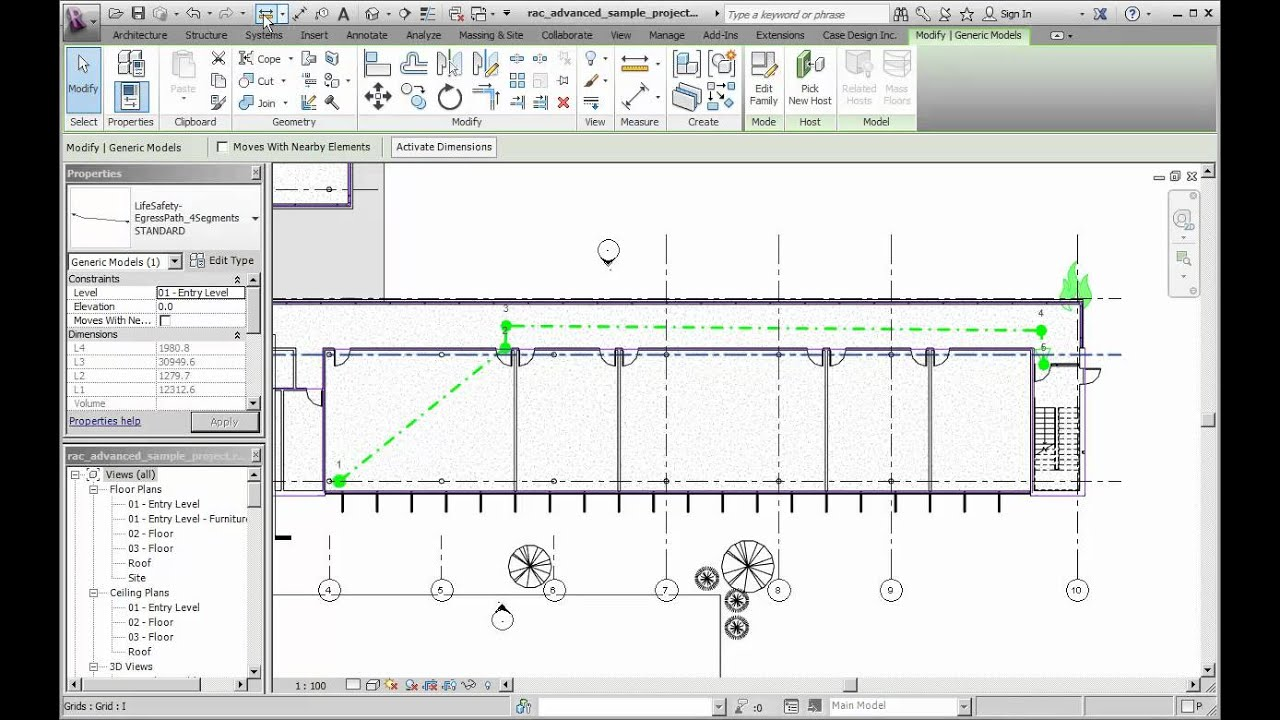 Revit 2013 Egress Paths YouTube