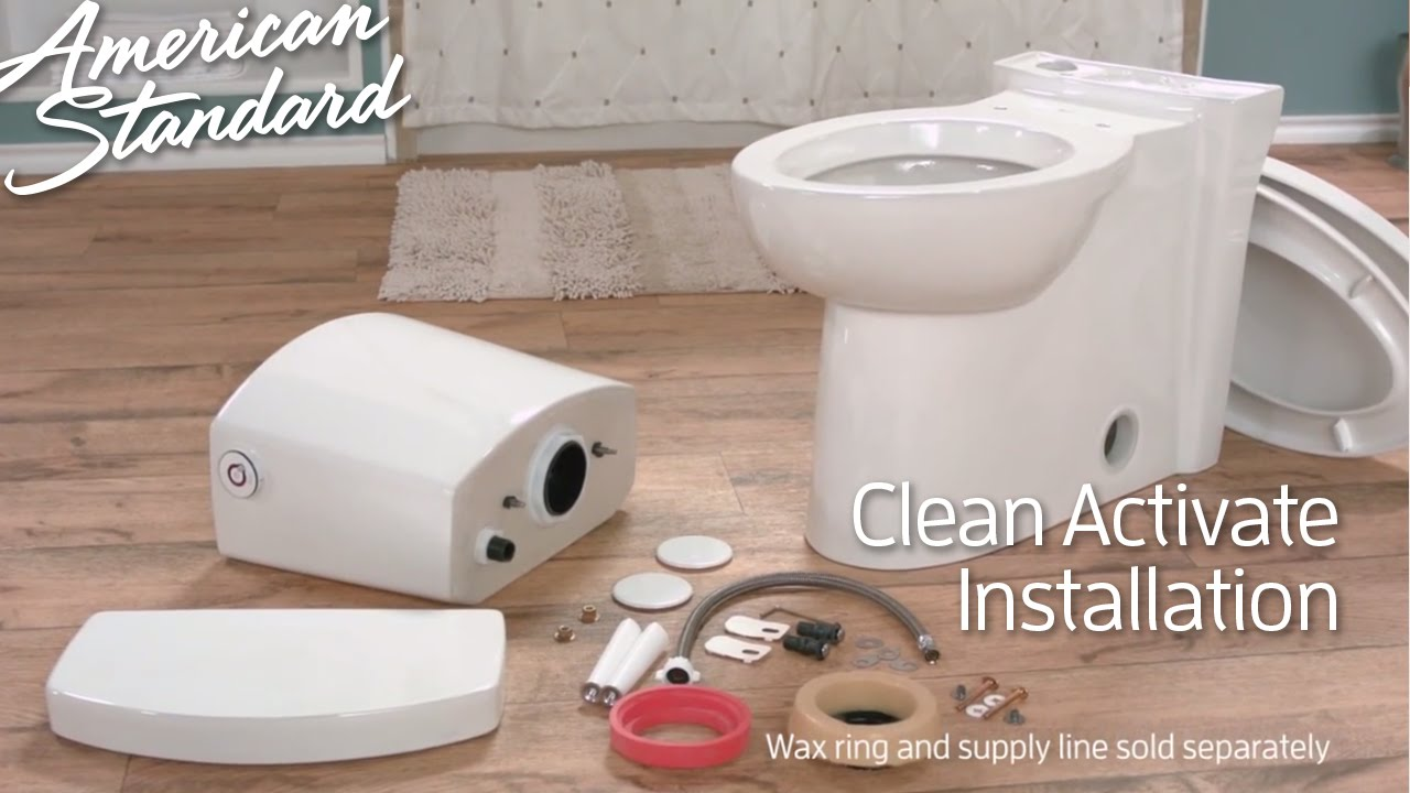 Touchless Toilet Install: Clean ActiVate Toilet By American Standard    YouTube