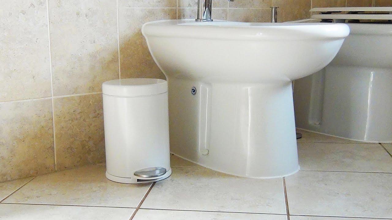 Simplehuman Mini Round White 3L Pedal Bin   BPB03   YouTube