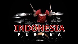INDONESIA PUSAKA Cover (Lagu Nasional) Drum Cover | By Vicky Shalov