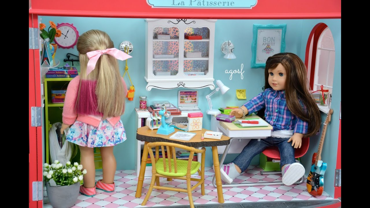 American Girl Doll Back To School Room Youtube