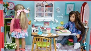 American Girl Doll Back-to-School Room