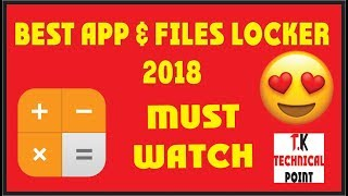 BEST APP AND FILE LOCK II T.K. TECHNICAL POINT