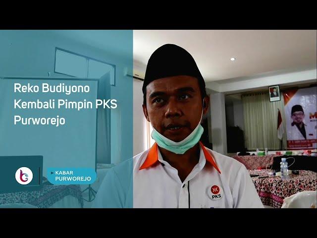 Reko Budiyono Kembali Pimpin PKS Purworejo