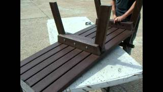 Assembly Instructions - 3 Seater Park Bench