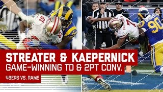Kaepernick Hits Streater for the TD & Runs in 2-Point Conversion for the Win!   NFL Wk 16 Highlights