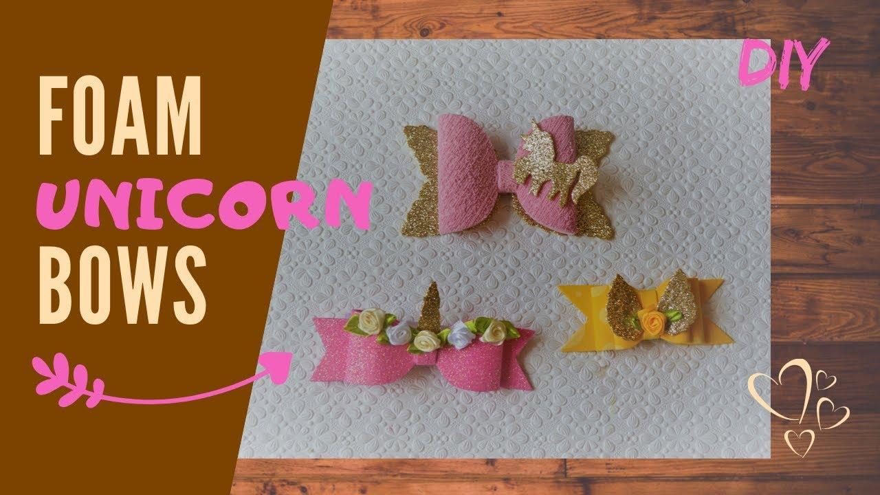diy rainbow unicorn bows handmade