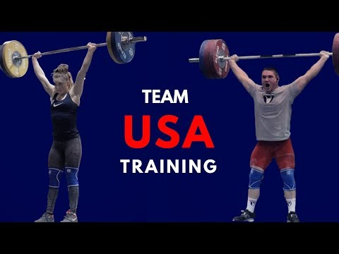 TEAM USA - In the training hall : World Weightlifting Championships 2017