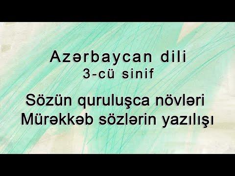 Azerbaycan dili - Sözün quruluşca növləri. Mürəkkəb sözlərin yazılışı