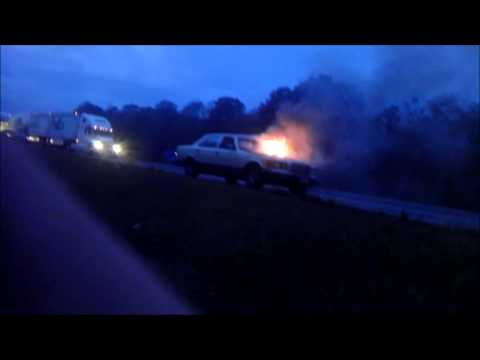 car on fire but wont stop running
