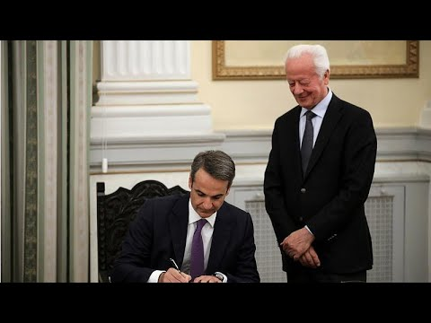 Watch: Greece's Kyriakos Mitsotakis is sworn in as prime minister