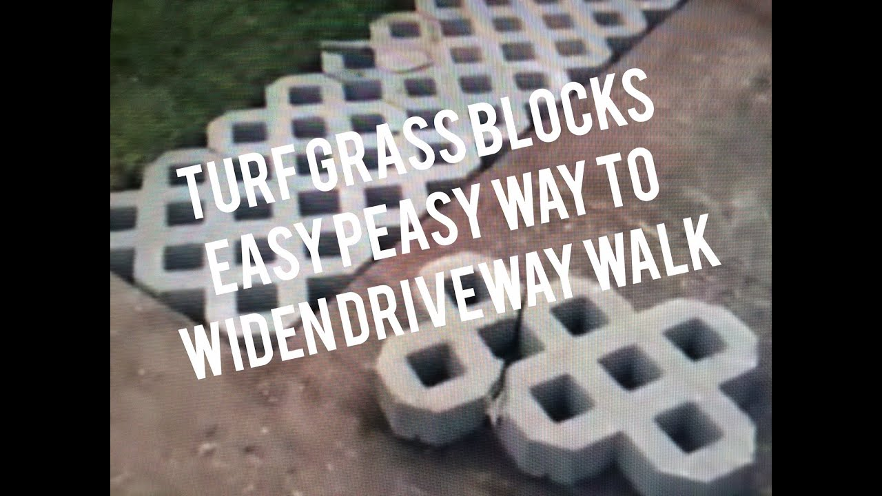 How To Install Turf Grass Block Paving Stones For Driveway, Sidewalk, Patio    YouTube