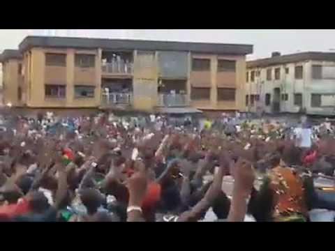 Nnamdi Kanu Storms Onitsha Anambra State