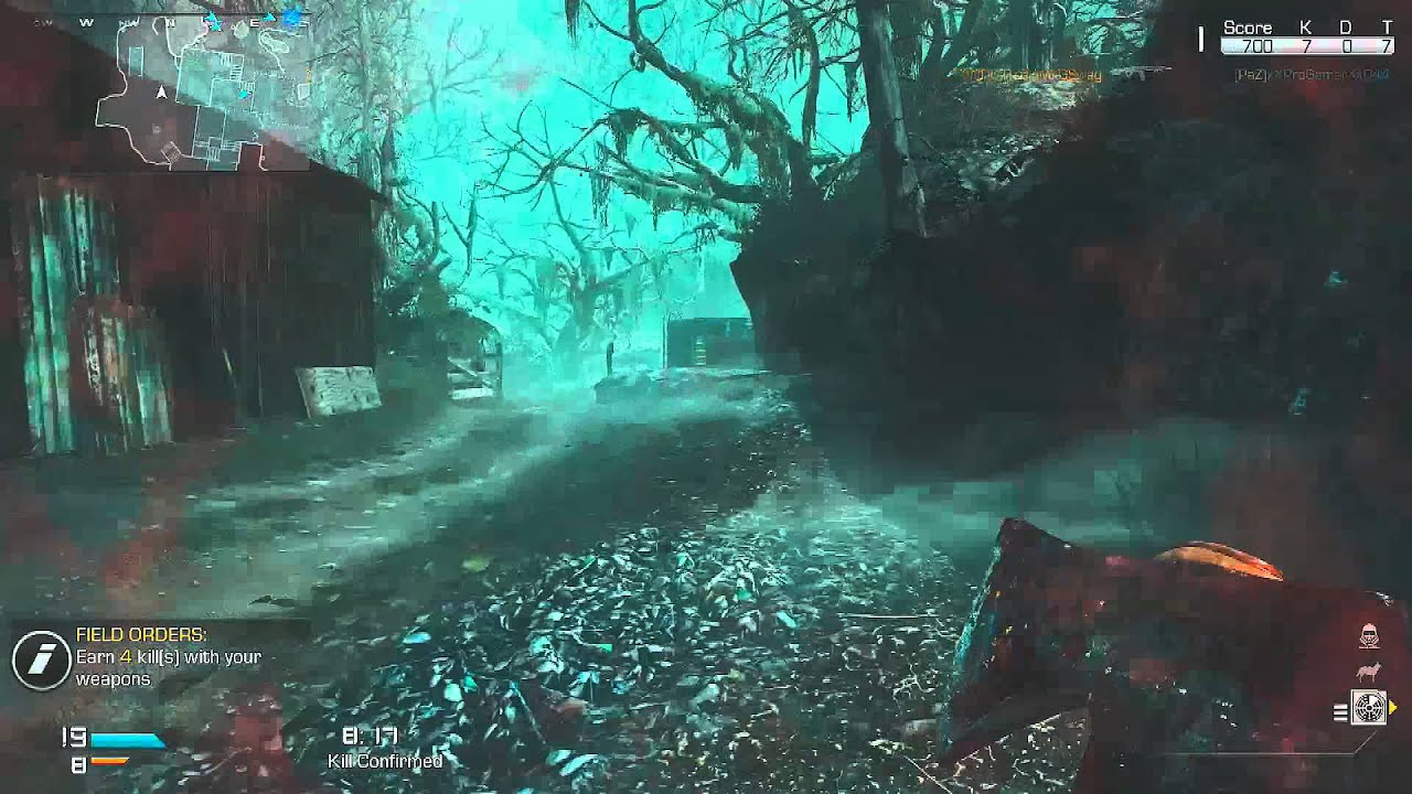 my first michael myers run on call of duty ghosts ps4 fog map - Halloween Video Game Michael Myers