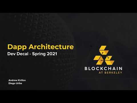 Blockchain Development Lecture 6: Dapp Architecture