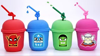 Learn Colors with Kinetic Sand Coffee Box and Pj Masks for Kids   #ToyBus