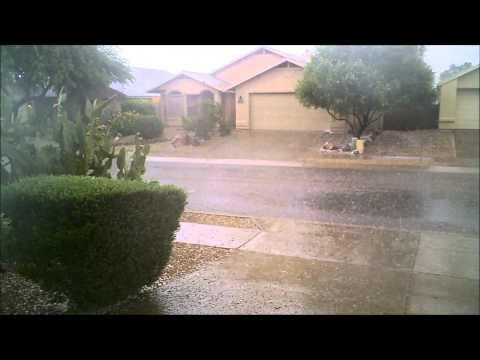 1st day of Monsoon in Tucson AZ 2015