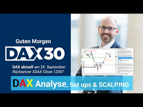 DAX aktuell: Analyse, Trading-Ideen & Scalping | DAX 30 | CFD Trading | DAX Analyse | 25.09.2019