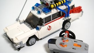 Lego 21108 Ghostbusters Ecto-1 - RC motorized version Review by 뿡대디