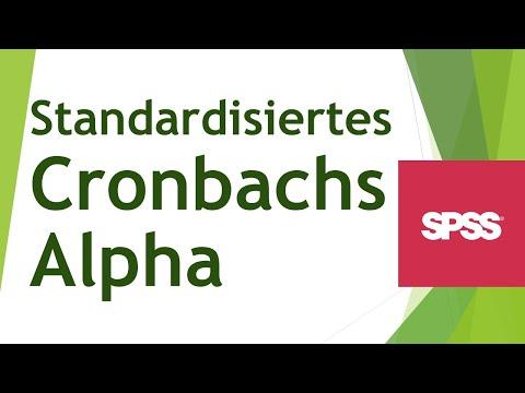 Standardisiertes Cronbachs Alpha