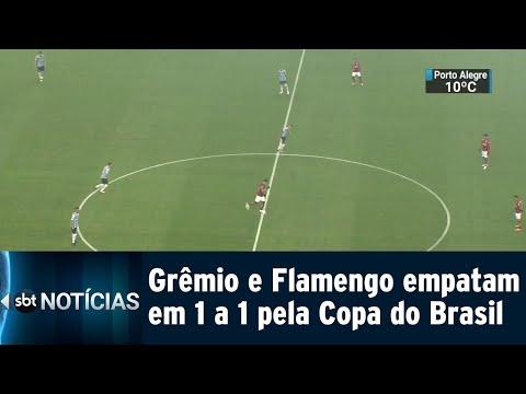 Grêmio recebe o Flamengo e empata em casa pela Copa do Brasil | SBT Notícias (02/08/18)