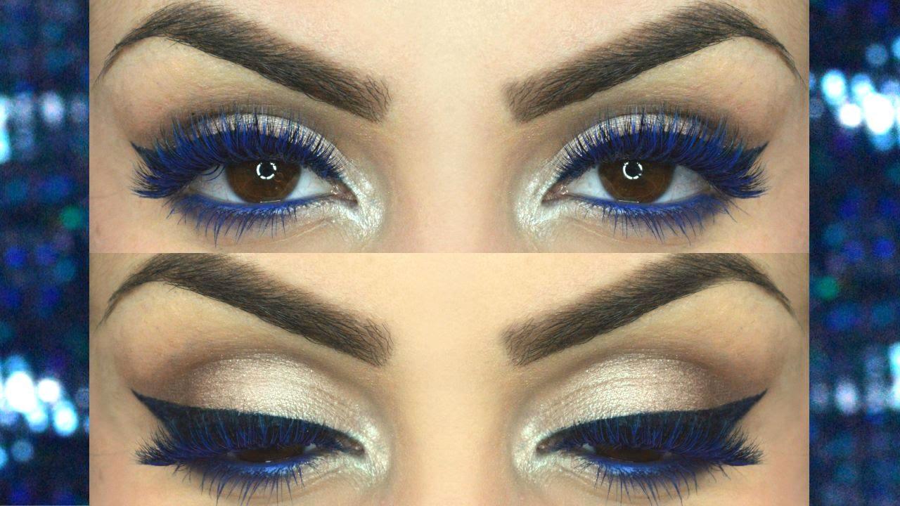 Exceptionnel Tutorial make up ciglia ed eyeliner blu / Make up tutorial blue  HA74