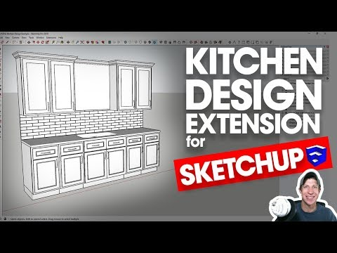 EASY KITCHEN DESIGN IN SKETCHUP with SketchThis Kitchen Design!