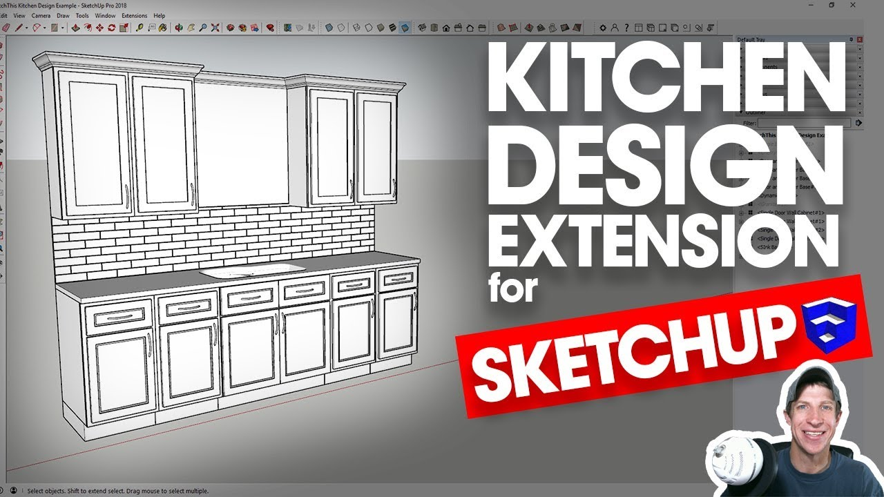 EASY KITCHEN DESIGN IN SKETCHUP with SketchThis Kitchen ...