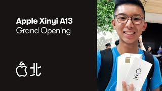 Gambar cover Apple Taipei Grand Opening - I was in line for 10 hours! (Apple Xinyi A13)