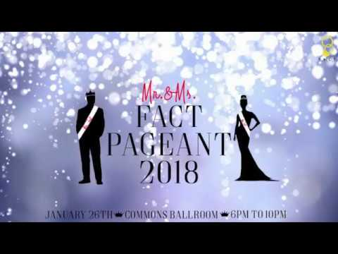 6TH Annual Mr. & Ms. FACT Pageant Contestants 2018