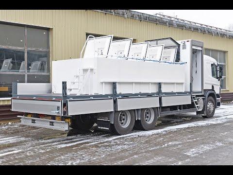 Scania P 360 бортовая платформа, предназначенная для разведения и перевозки рыбы