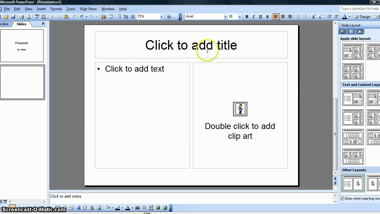 how to create a simple student powerpoint presentation youtube