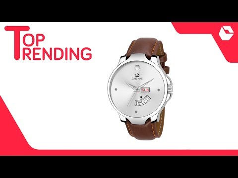 Leather Analog Men's Watch With A Free Bracelet | Best Selling Watches