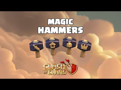 Instant Upgrades with New MAGIC HAMMERS (Clash of Clans)