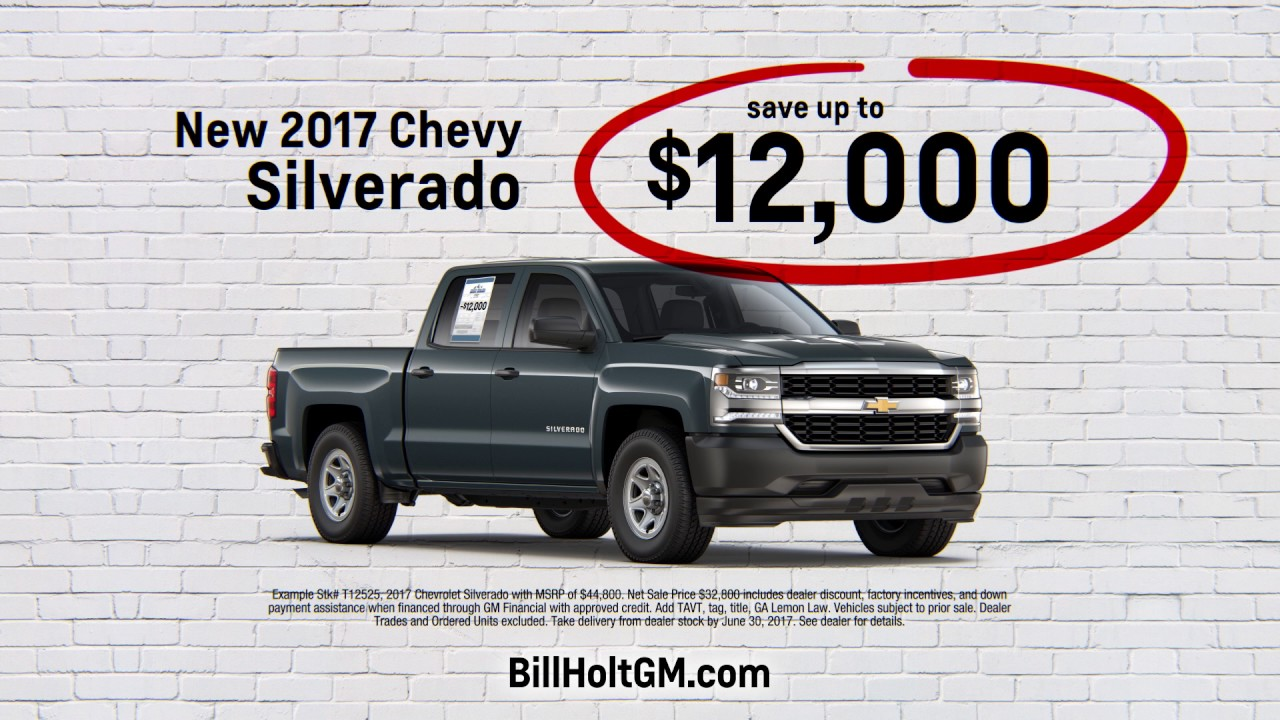 Bill holt chevrolet off the wall sales event
