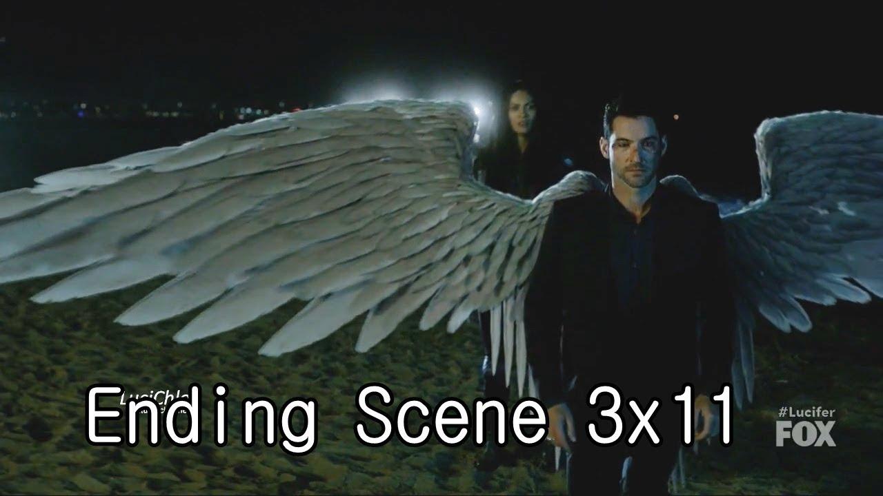 Lucifer 3x11 Ending Final Scene Maze Cuts Luci's Wings- Luci & Amenadiel  Talk Season 3 Episode 11