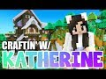 💙 Decorating My Minecraft House! Craftin' w/ Katherine Ep.24