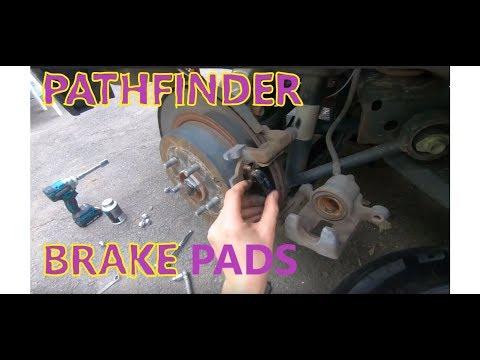 Rear Brake Pads replacement Nissan Pathfinder 2013 2014 2015 2016 2017 2018 2019 2020