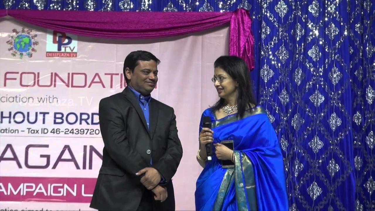 Felicitation of Mr.Ramana chari,Founder by Ms.Gautami at Life Again World wide Lanuch event.