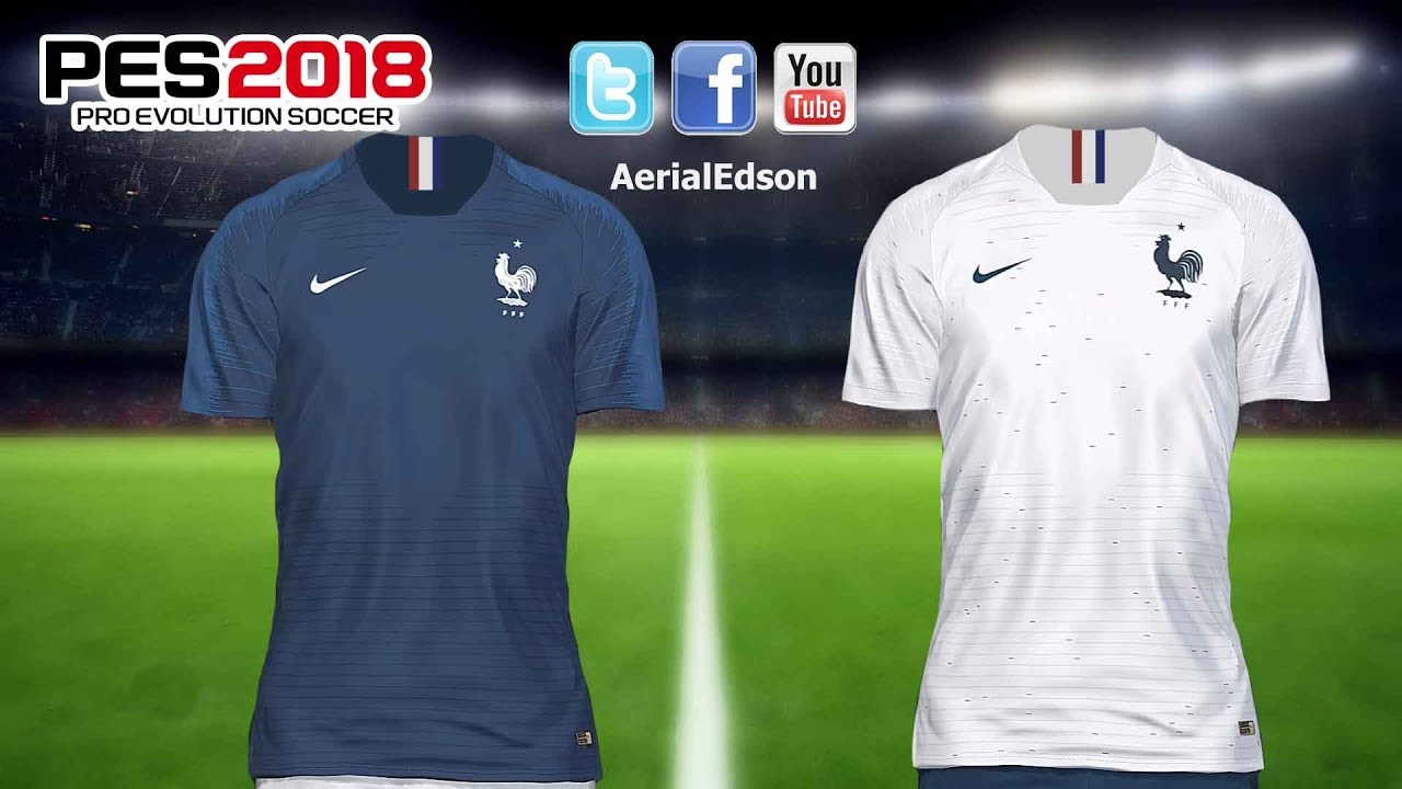 Francia kits mundial 2018 V1 - PES 2018 - PS4 - YouTube 94336ce0af7da