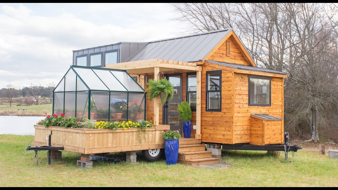 Dream Tiny House With Greenhouse Youtube