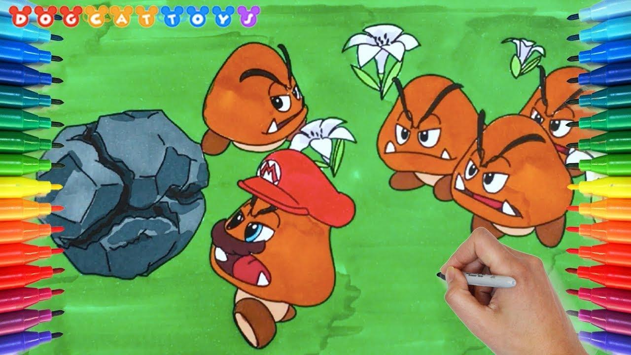 How To Draw Super Mario Odyssey Goomba Mario Soccer 202